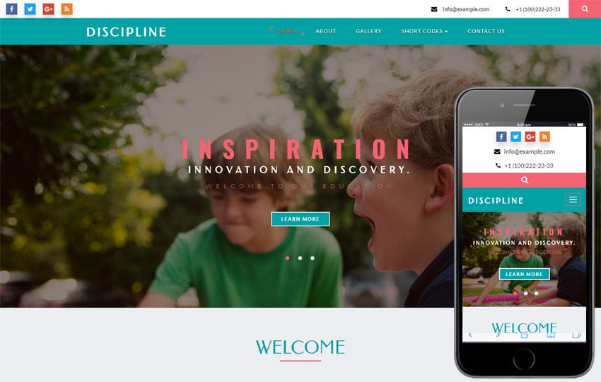 Discipline an Educational Category Bootstrap Responsive Web Template