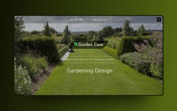 garden care website template