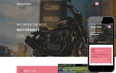 Motorbike a Transportation Category Bootstrap Responsive Web Template
