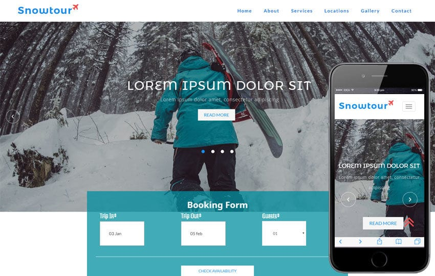 Snow Tour a Travel Category Bootstrap Responsive Web Template