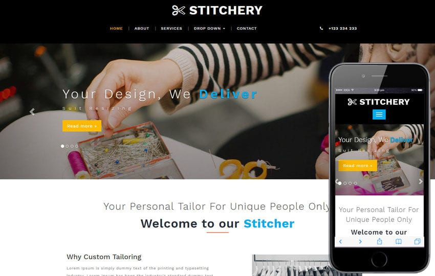 Stitchery a Fashion Category Bootstrap Responsive Web Template
