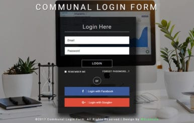 Communal Login Form a Flat Responsive Widget Template