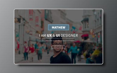 Designer a Personal Category Bootstrap Responsive Web Template