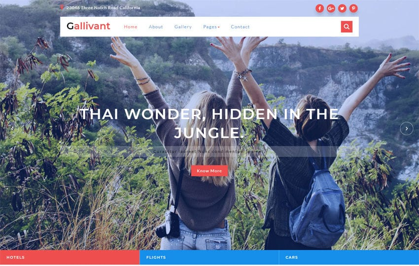 Gallivant a Travel Category Bootstrap Responsive Web Template