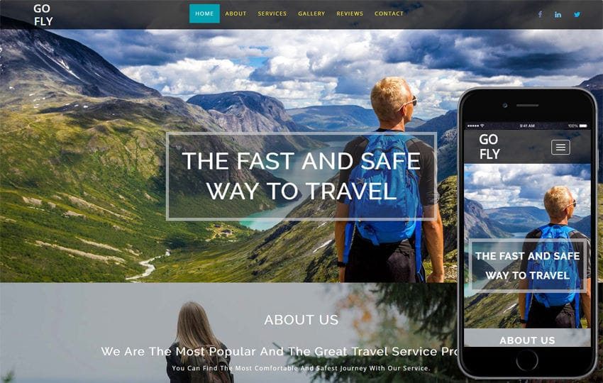 Go Fly Traveller a Travel Category Bootstrap Responsive Web Template
