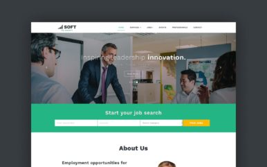 human resource management website template
