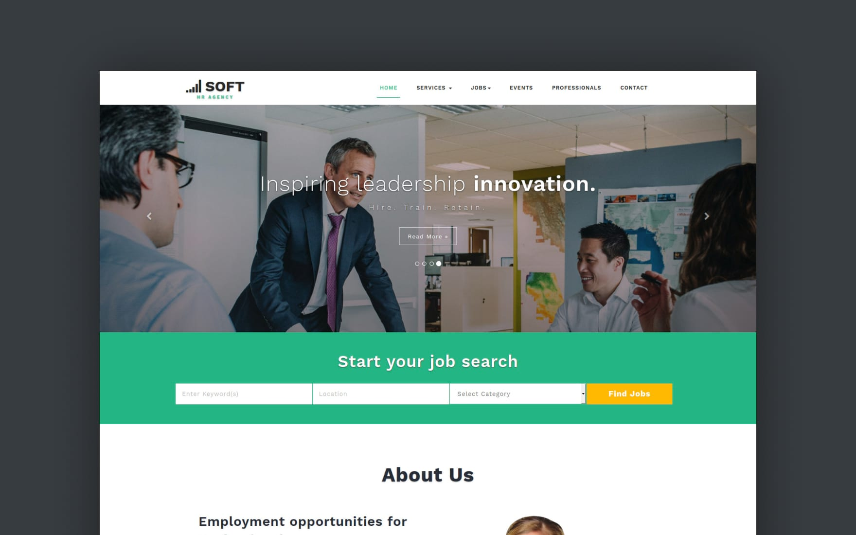 Human Resource Management Bootstrap Responsive Web Template