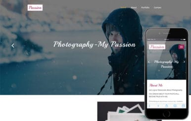Passion a Personal Category Bootstrap Responsive Web Template