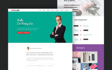 Preamble a Personal Category Bootstrap Responsive Web Template