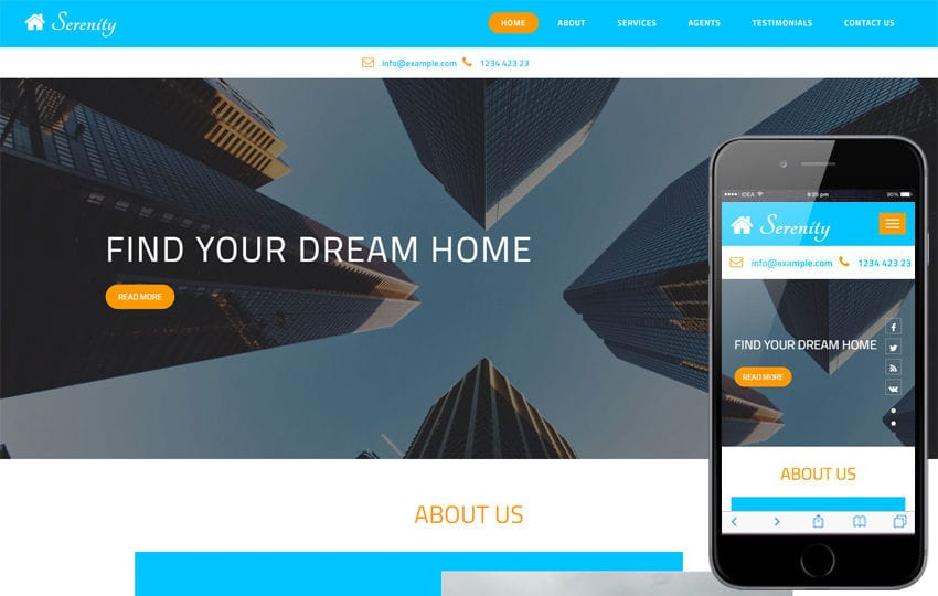 Serenity a Real Estates Category Bootstrap Responsive Web Template