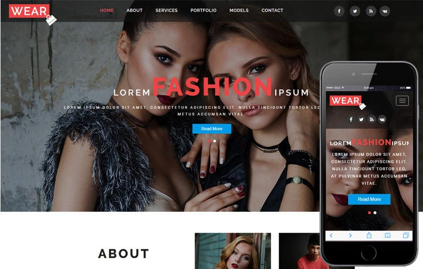 Wear a Fashion Category Bootstrap Responsive Web Template