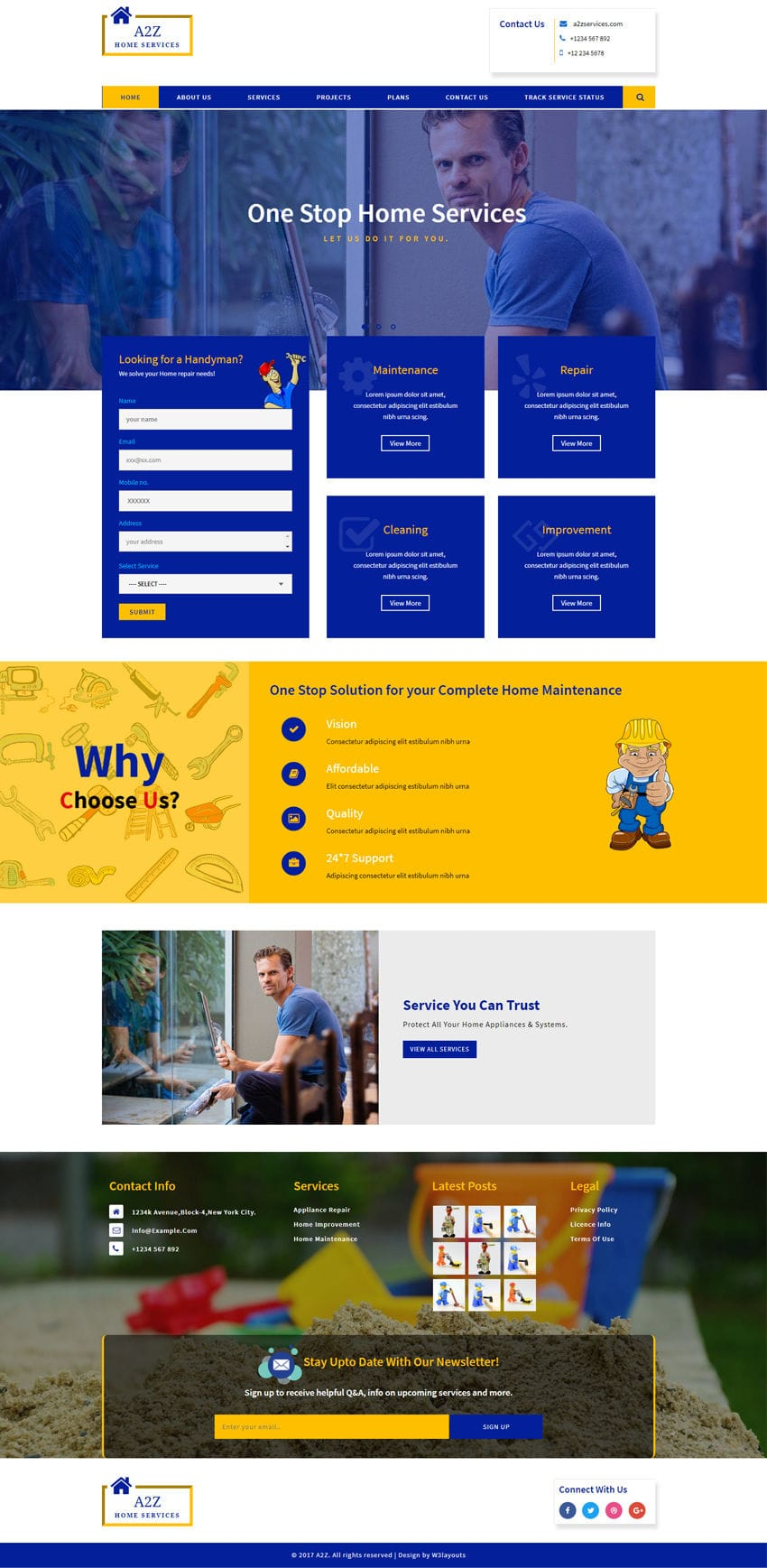 A2Z - Corporate Category Bootstrap Responsive Website Template
