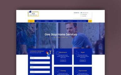 a2z home service website template