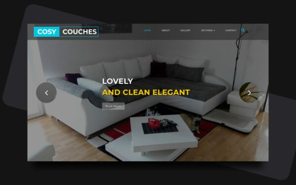 cosy couches website template