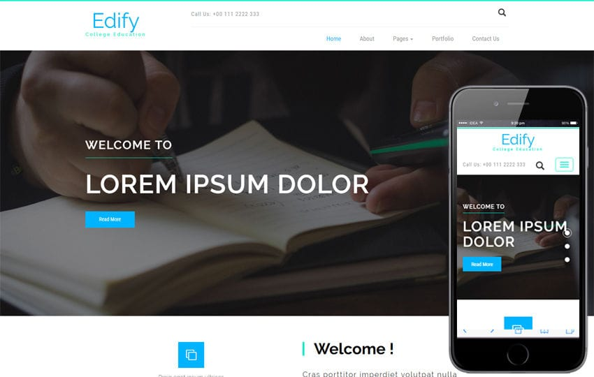Edify an Education Category Bootstrap Responsive Web Template