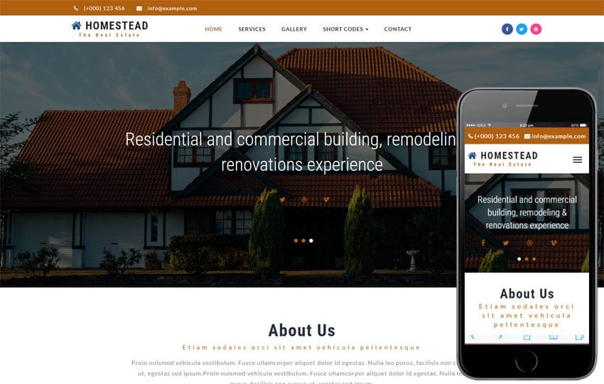 Homestead a Real Estate Category Bootstrap Responsive Web Template