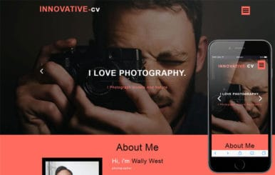 Innovative CV a Personal Category Bootstrap Responsive Web Template