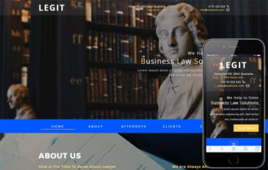 Legit a Corporate Category Bootstrap Responsive Web Template
