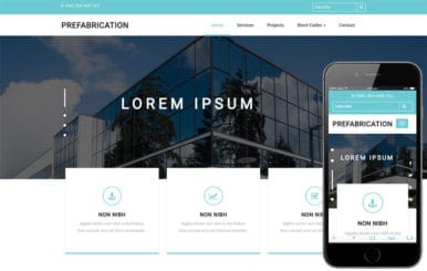 Prefabrication a Real Estate Bootstrap Responsive Web Template