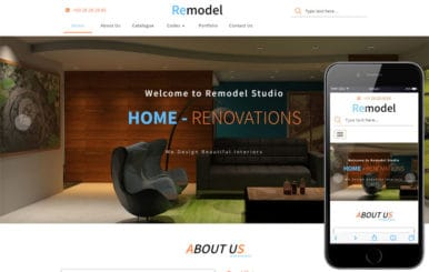 Remodel an Interior Category Bootstrap Responsive Web Template