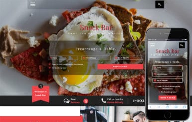 Snack Bar a Restaurants Category Bootstrap Responsive Web Template