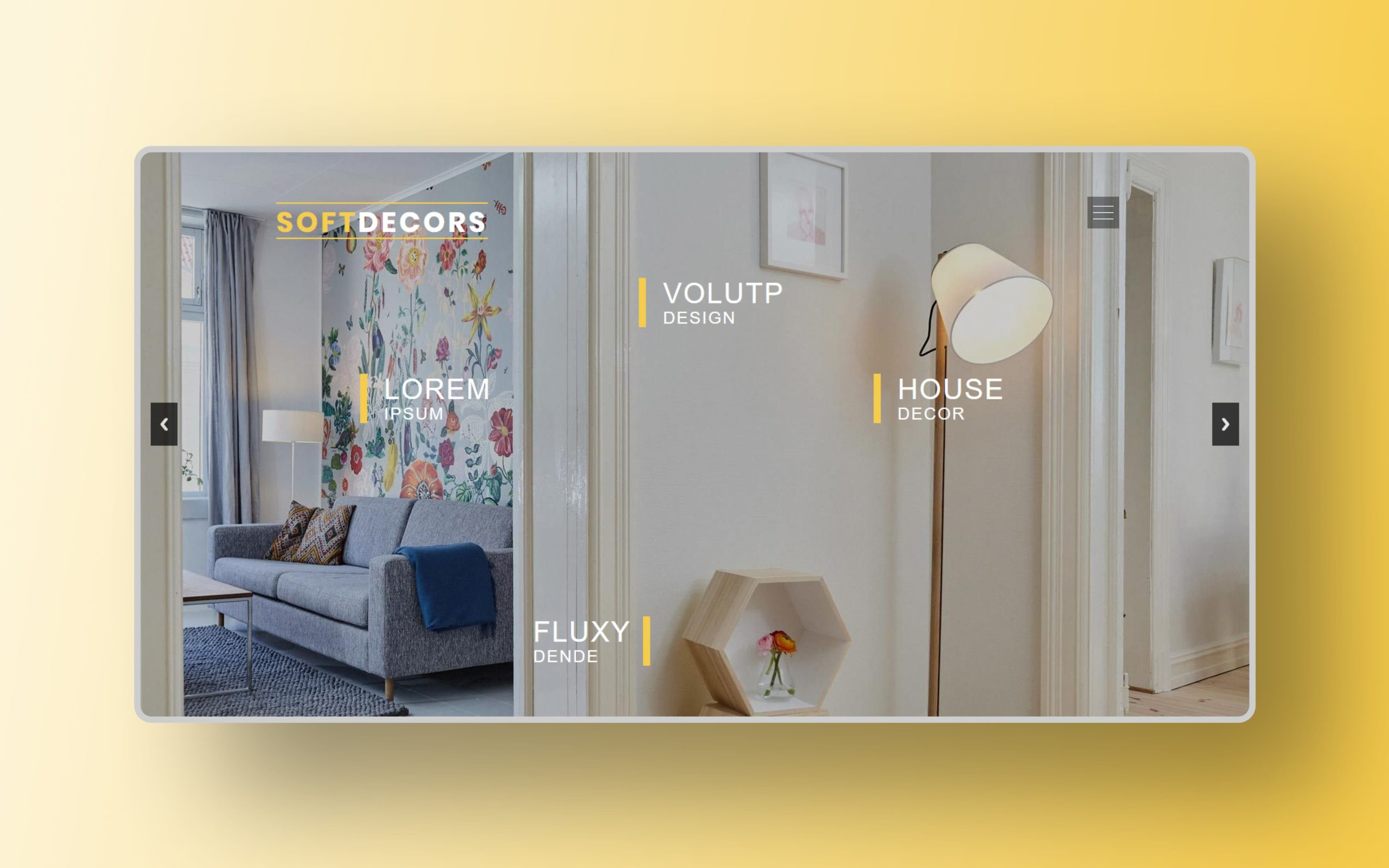 soft decor website template