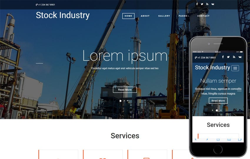 Stock Industry an Industrial Bootstrap Responsive Web Template