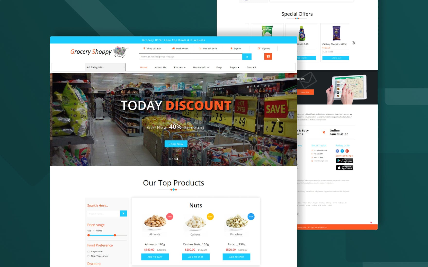 Grocery Shoppy Ecommerce Bootstrap Responsive Web Template