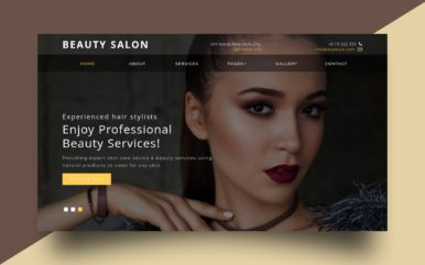 beauty saloon website template