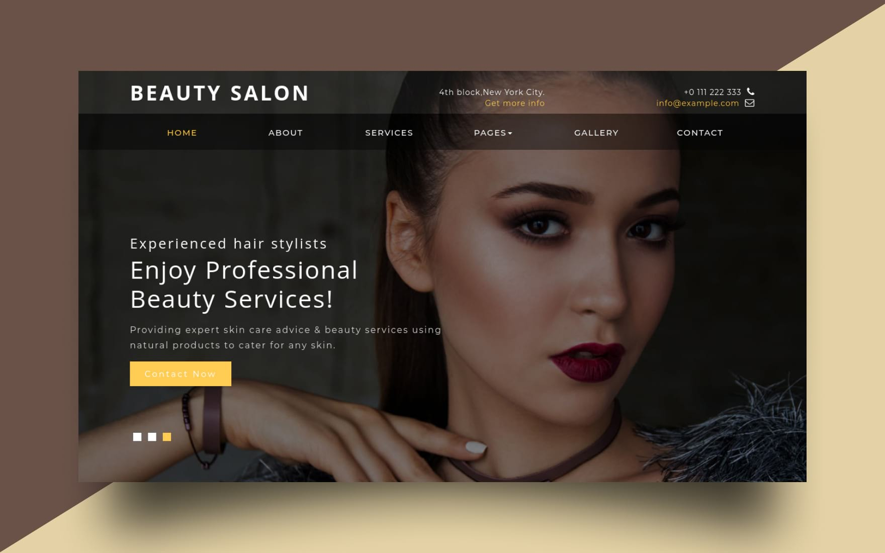 Beauty Salon – Beauty Category Bootstrap Responsive Website Template