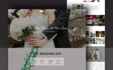 Blissful Wedding Category Bootstrap Responsive Web Template