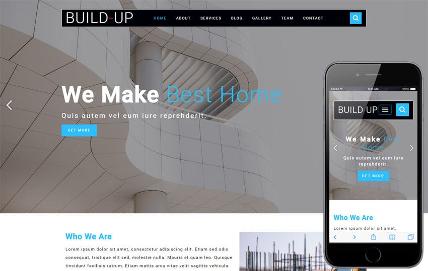 Build Up Builders Category Flat Bootstrap Responsive Web Template