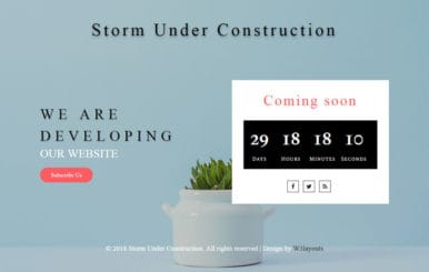 Storm Under Construction Responsive Widget Template