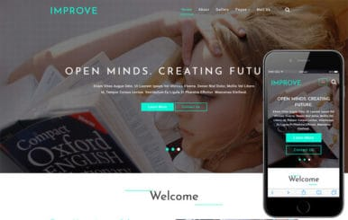 Improve Education Category Bootstrap Responsive Web Template
