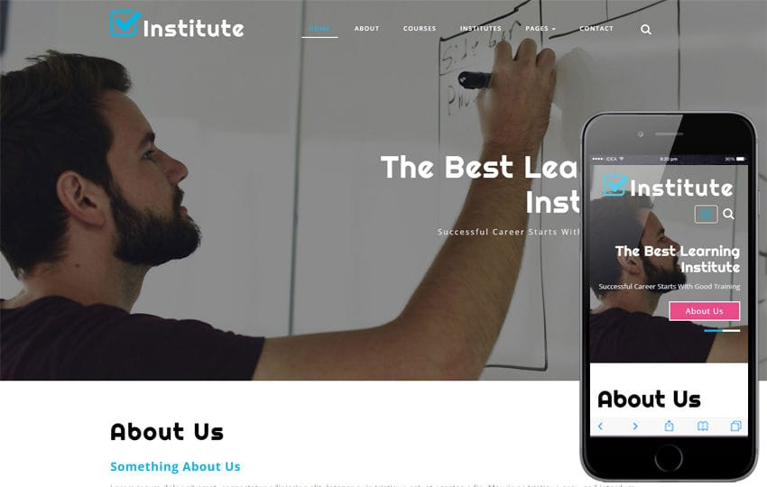 Institute Education Category Bootstrap Responsive Web Template