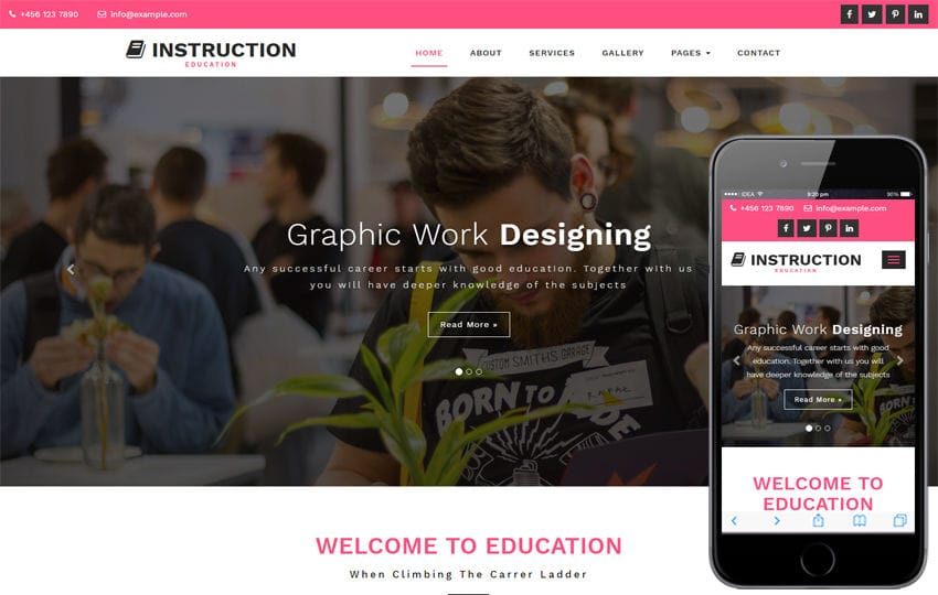 Instruction Education Category Bootstrap Responsive Web Template