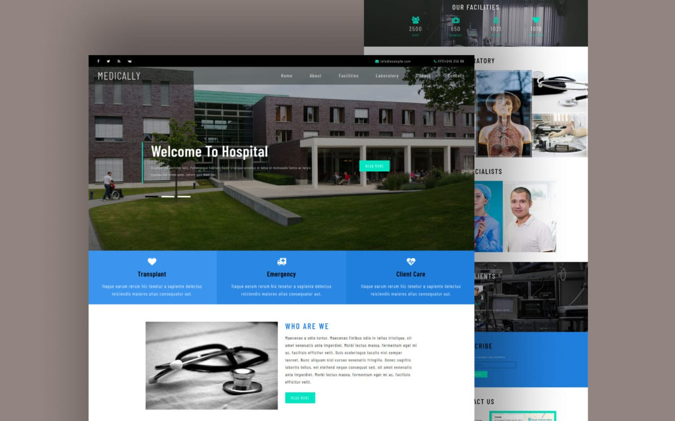 Medically Medical Category Flat Bootstrap Responsive Web Template