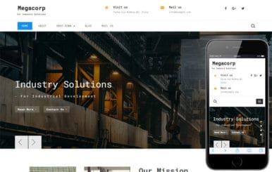 Megacorp Industrial Category Bootstrap Responsive Web Template