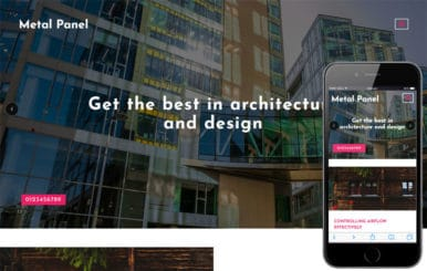 Metal Panel Exterior Category Bootstrap Responsive Web Template