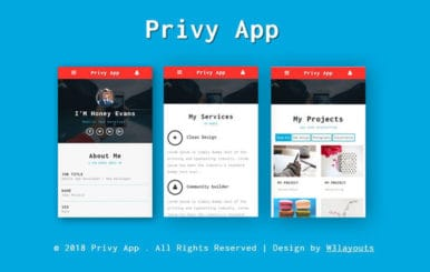 Privy Mobile App Bootstrap Responsive Web Template