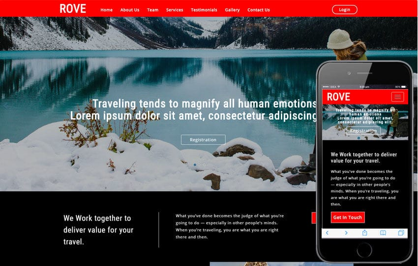 Rove Travel Category Bootstrap Responsive Web Template