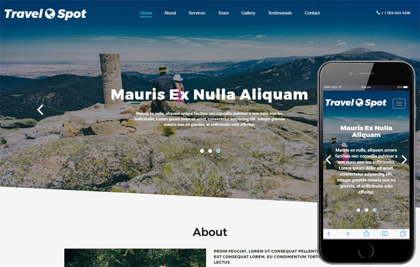 Travel Spot Travel Category Bootstrap Responsive Web Template