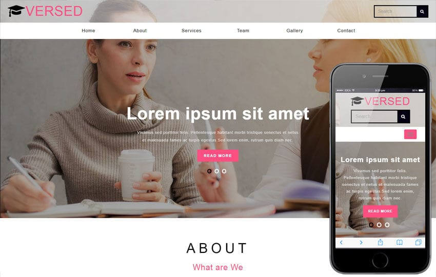 Versed Education Category Bootstrap Responsive Web Template