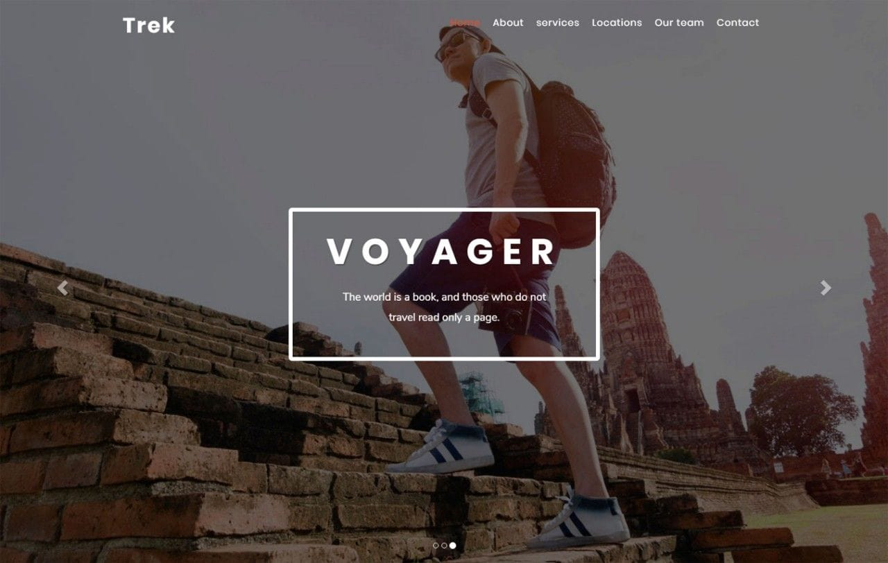 Trek Travel Category Bootstrap Responsive Web Template