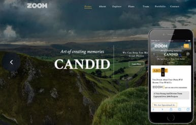 Zoom Photo Gallery Bootstrap Responsive Web Template