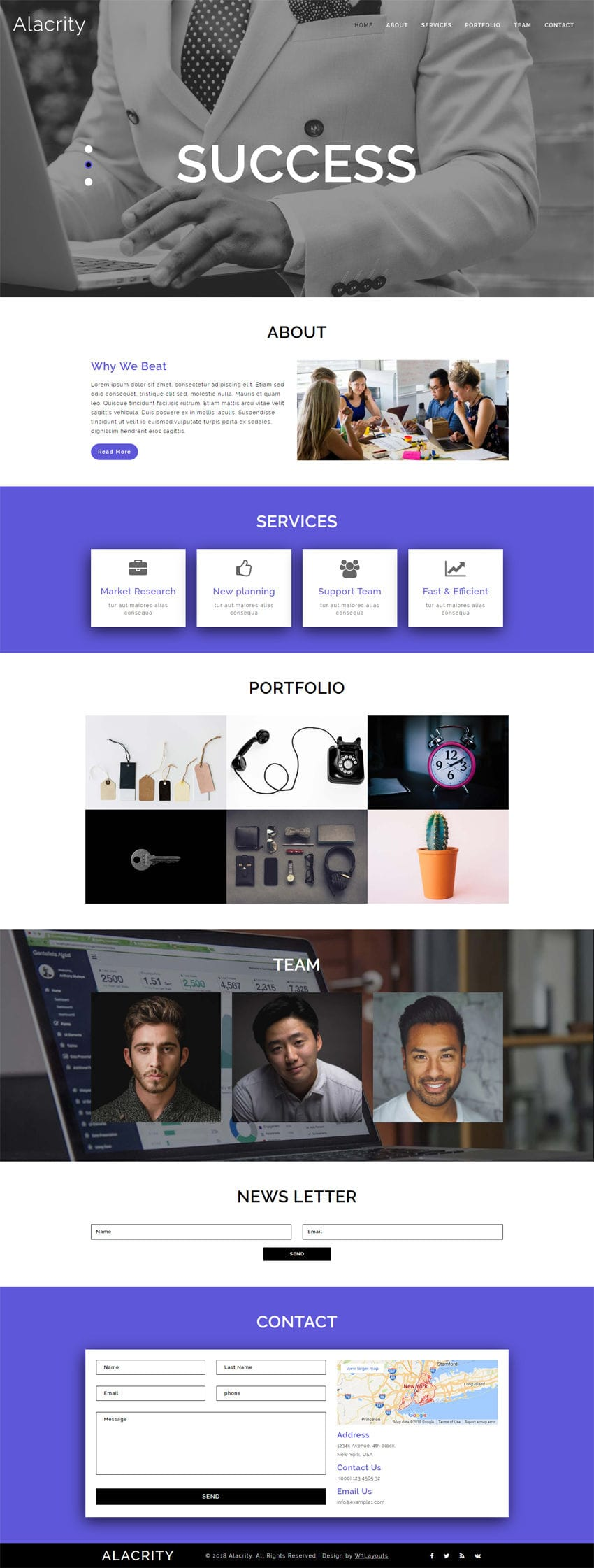 Alacrity Corporate Category Bootstrap Responsive Web Template