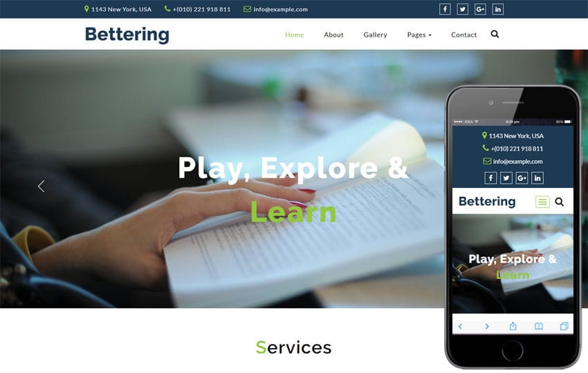 Bettering Education Category Bootstrap Responsive Web Template