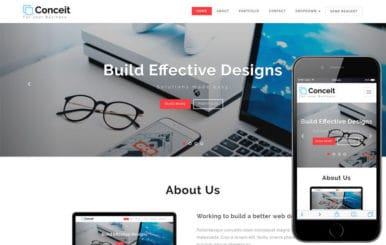 Conceit Corporate Category Bootstrap Responsive Web Template