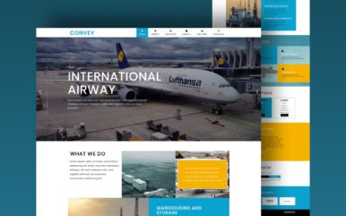 convey website template