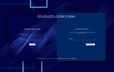 Coupled Login Form Responsive Widget Template